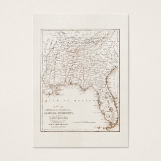 Vintage Map of Florida Alabama Georgia Mississippi Business Card