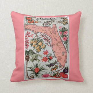 Vintage Map of Florida Pillow