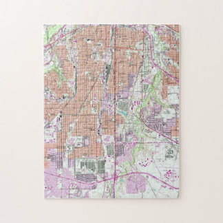 Vintage Map of Fort Worth Texas (1955) 2 Jigsaw Puzzle
