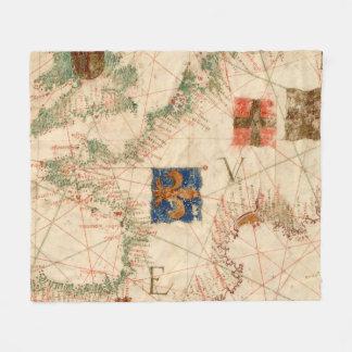 Vintage Map of France (1600) Fleece Blanket