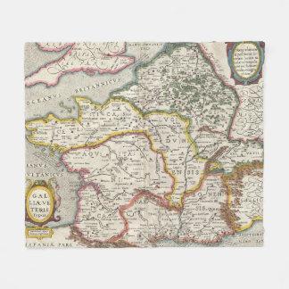 Vintage Map of France (1657) Fleece Blanket