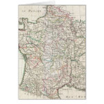 Vintage Map of France (1771) Greeting Cards