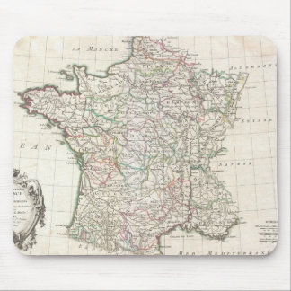 Vintage Map of France (1771) Mouse Pad