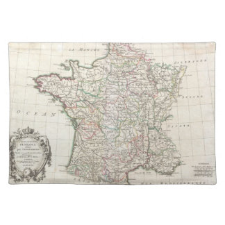 Vintage Map of France (1771) Placemat