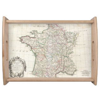 Vintage Map of France (1771) Serving Tray