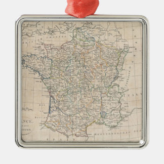 Vintage Map of France (1799) Christmas Ornament