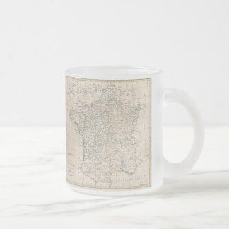 Vintage Map of France (1799) Frosted Glass Coffee Mug