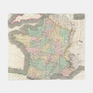 Vintage Map of France (1814) Fleece Blanket