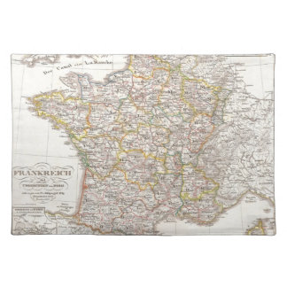 Vintage Map of France (1850) Place Mats