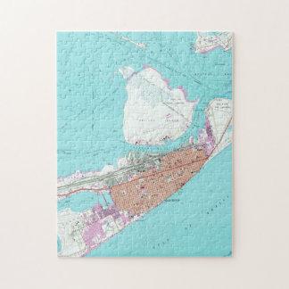 Vintage Map of Galveston Texas (1954) 2 Jigsaw Puzzle