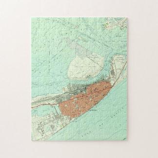 Vintage Map of Galveston Texas (1954) 3 Jigsaw Puzzle