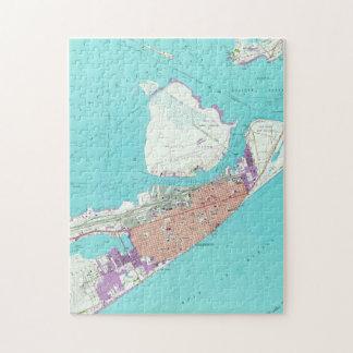 Vintage Map of Galveston Texas (1954) Jigsaw Puzzle