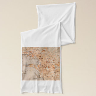 Vintage Map of Genoa Italy (1906) Scarf