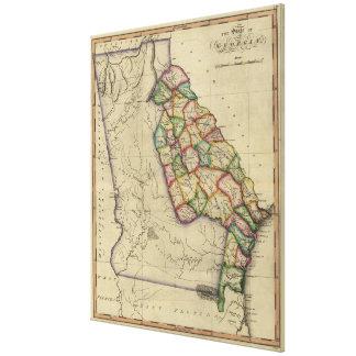 Vintage Map of Georgia (1817) Canvas Print