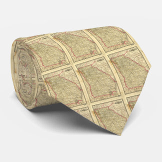 Vintage Map of Georgia (1883) Tie