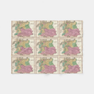 Vintage Map of Germany (1827) Fleece Blanket