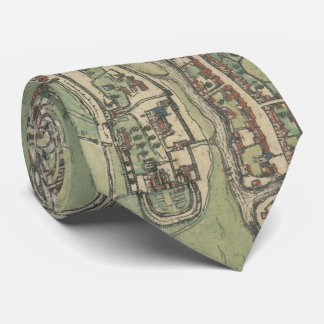 Vintage Map of Ghent Belgium (1650) Tie