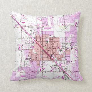 Vintage Map of Glendale Arizona (1957) Cushion