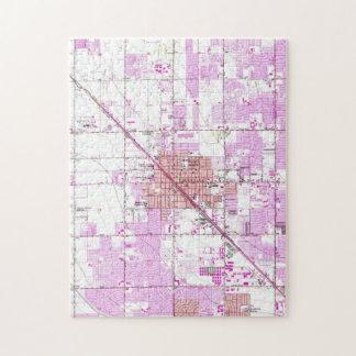 Vintage Map of Glendale Arizona (1957) Jigsaw Puzzle