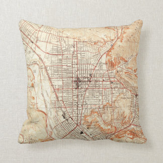 Vintage Map of Glendale California (1928) Cushion