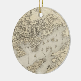 Vintage Map of Gloucester Massachusetts (1873) Christmas Ornament