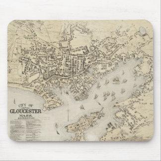 Vintage Map of Gloucester Massachusetts (1873) Mouse Mat