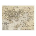 Vintage Map of Gloucester Massachusetts (1873) Postcard