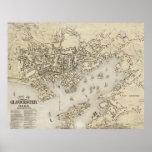 Vintage Map of Gloucester Massachusetts (1873) Poster