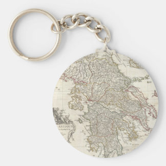Vintage Map of Greece (1794) Key Ring