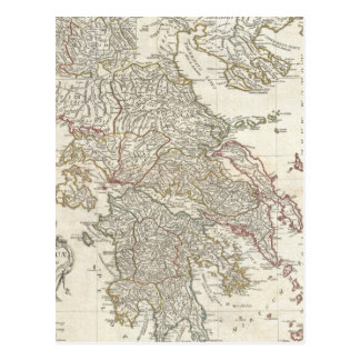 Vintage Map of Greece (1794) Post Cards