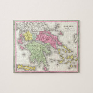 Vintage Map of Greece (1853) Jigsaw Puzzle