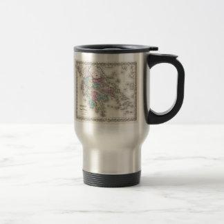 Vintage Map of Greece (1855) Stainless Steel Travel Mug