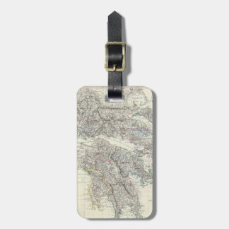 Vintage Map of Greece (1861) Luggage Tag