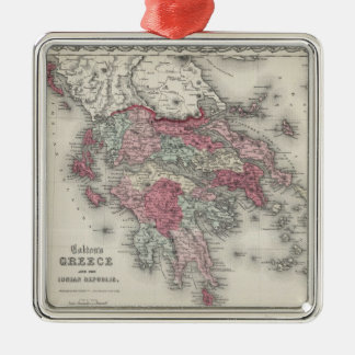 Vintage Map of Greece (1865) Christmas Ornament