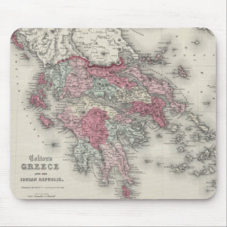 Vintage Map of Greece (1865) Mouse Pad