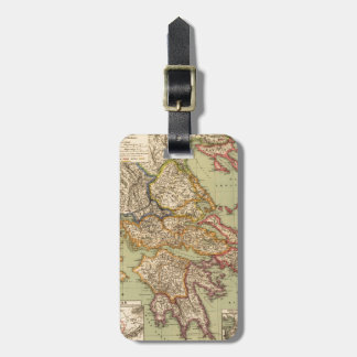 Vintage Map of Greece (1903) Luggage Tag