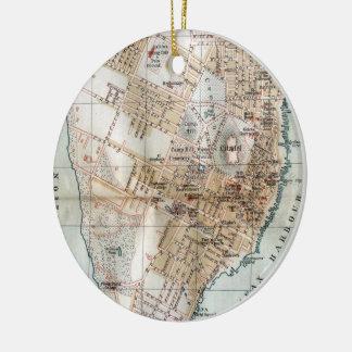 Vintage Map of Halifax Nova Scotia (1890) Christmas Ornament