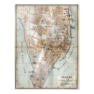 Old Halifax Map Gifts Gift Ideas Zazzle Uk