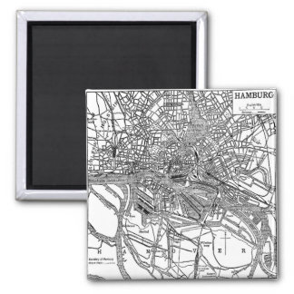 Vintage Map of Hamburg Germany (1911) Magnet