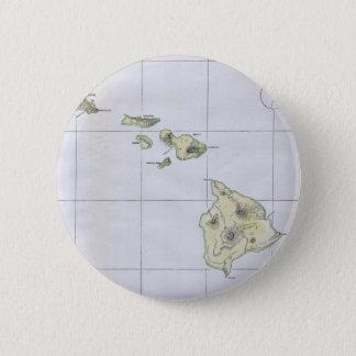 Vintage Map of Hawaii (1883) 6 Cm Round Badge