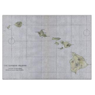 Vintage Map of Hawaii (1883) Cutting Board