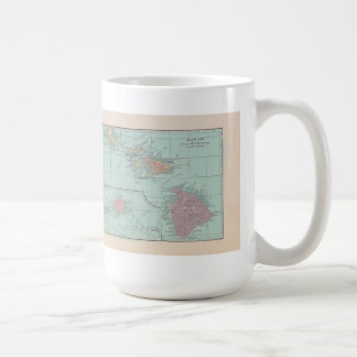 Vintage Map of Hawaii Mug