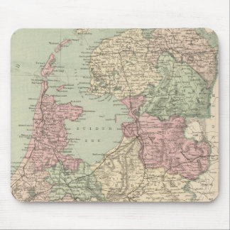 Vintage Map of Holland (1873) Mouse Pad