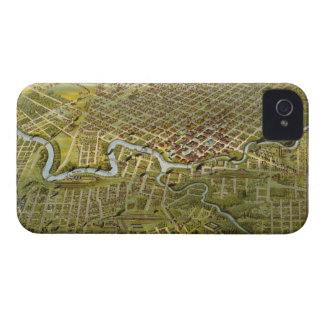 Vintage Map of Houston Texas 1891 iPhone 4 Case-Mate Case