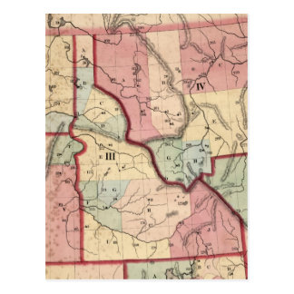 Vintage Map of Idaho (1866) Postcard