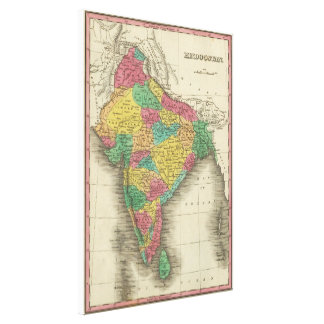 Vintage Map of India (1831) Canvas Print
