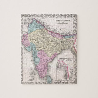 Vintage Map of India (1855) Jigsaw Puzzle
