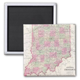 Vintage Map of Indiana (1864) Magnet