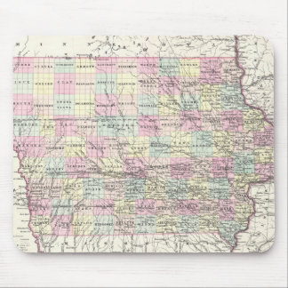 Vintage Map of Iowa (1855) Mouse Pad