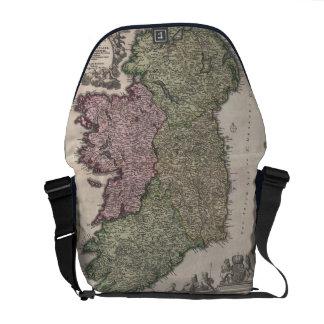 Vintage Map of Ireland (1716) Commuter Bag